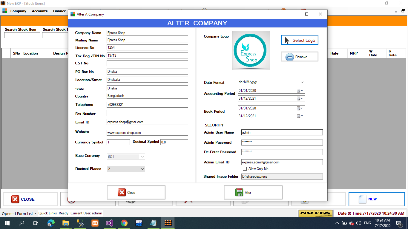 Full ERP software